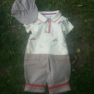 Fresh Impressions Infant Bots 3 piece outfit  3 to